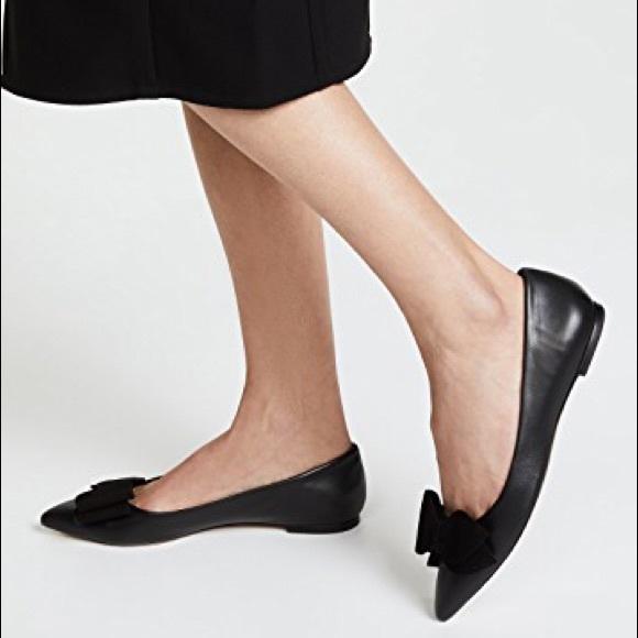 33a74c37f004 Tory Burch Rosalind Ballet Flat Black Leather 9. M 5ba67039035cf1d457e6d4b2